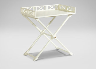 Ethan Allen White West Indies Tray Table