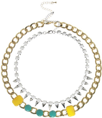 Asos Doublerow Spike Chain Necklace