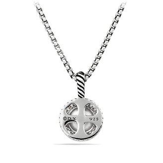 David Yurman Petite Cerise Pendant with Pearl and Diamonds on Chain