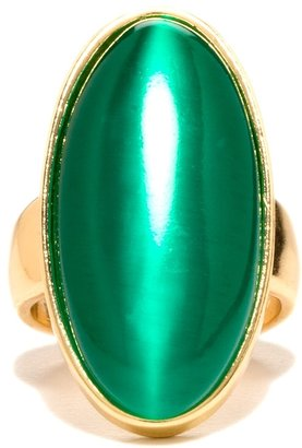 The Limited Long Oval Stone Ring