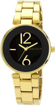 Anne Klein Round Bracelet Watch Gold/ Black