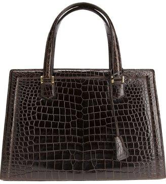 Hermes Vintage crocodile leather 'Pullman' tote