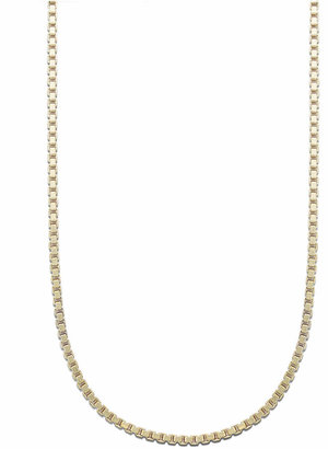 "Giani Bernini 18K Gold over Sterling Silver Necklace, 24"" Box Chain"