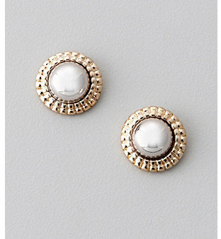 Laura Ashley Goldtone Mesh Wrap Bead Earrings