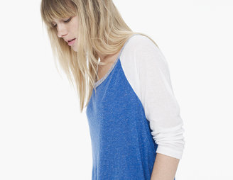 James Perse Colorblock Raglan Boyfriend Tee