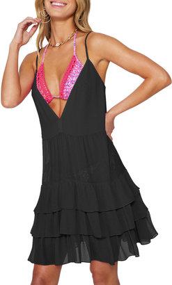 Ramy Brook Lula Ruffle Mini Coverup Dress