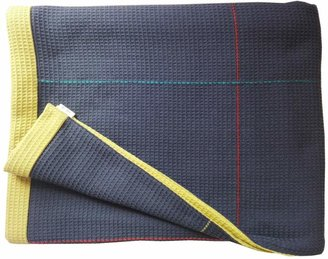 Waffle Design - Newman Navy Olive Hand Embroidered Reverse Throw