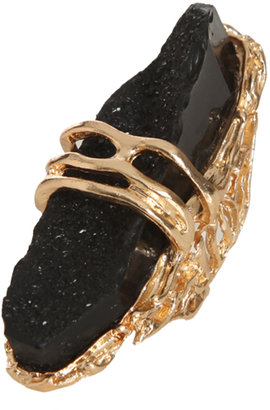 Arden B Iced Crystal Oversized Ring