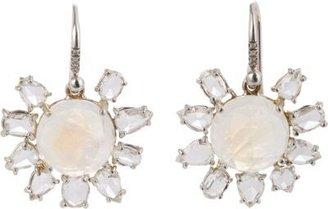 Irene Neuwirth Diamond Collection Rainbow Moonstone, Diamond & White Gold Drop Earrings