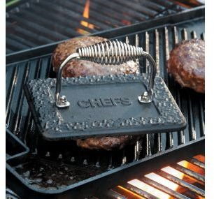 Chefs Rectangular Cast-Iron Grill Press