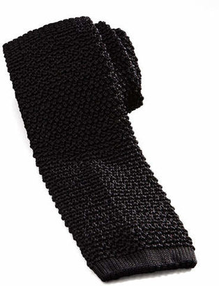 Charvet Knit Silk Tie, Black