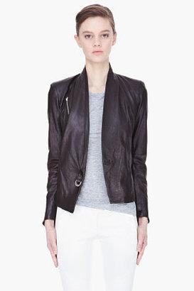 Helmut Lang black Thin Leather Jacket