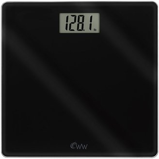 Weight Watchers black glass bathroom scale