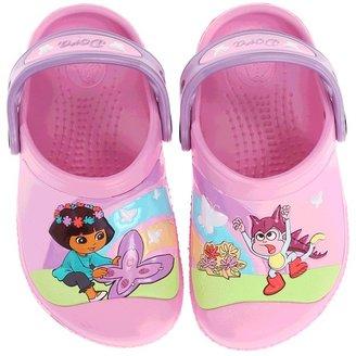 Crocs Dora Butterfly Clog (Toddler/Little Kid) (Carnation/Iris) - Footwear