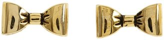 Betsey Johnson Gold Bow Stud Earrings (Gold) - Jewelry
