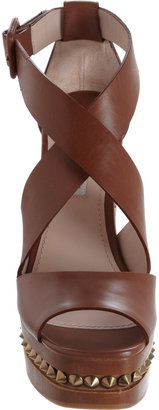 Miu Miu Criss Cross Front Studded Midsole Platform Sandal