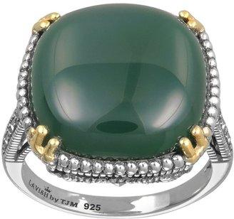 Swarovski Lavish By Tjm Lavish by TJM 14k Gold Over Silver & Sterling Silver Agate Ring - Made with Marcasite