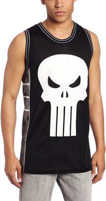 Marvel Men's Punisher Castle Basketball Jersey Shirt
