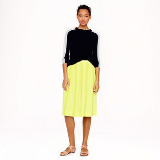 J.Crew Collection lace-stripe silk skirt