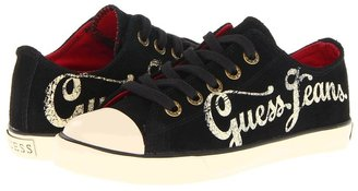 GUESS Kids' - Trevor Low (Toddler/Youth) (Black Suede) - Footwear