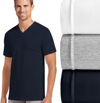 Jockey Men's 3-pk. Slim-Fit Tailored StayDry V-Neck Tees