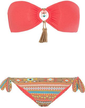 Emamo Aymara embellished bandeau bikini