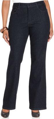 NYDJ Plus Size Barbara Tummy-Slimming Bootcut Jeans, Dark Enzyme Wash