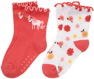 Gymboree Unicorn Flower Sock Two-Pack