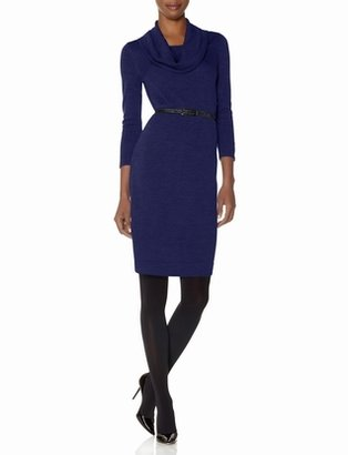 The Limited Belted Cowl Neck Sweater Dress