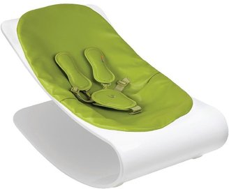 Bloom Coco Lounger - White Plexistyle - Henna Brown Seat Pad