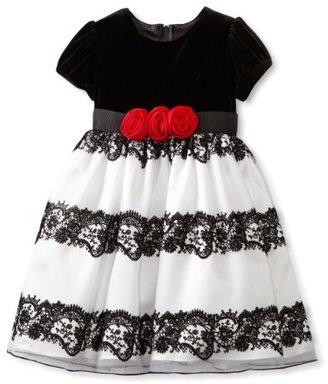 Rare Editions Girls 2-6x Flocked Dress