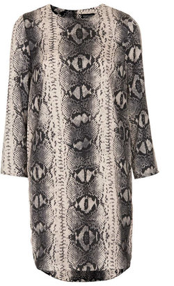 Topshop Snake Print Tunic Dress
