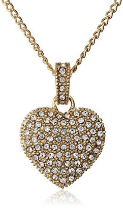 "Judith Jack ""Golden Class"" Sterling Silver and Gold-Tone Crystal Marcasite Heart Pendant Necklace $115 thestylecure.com"