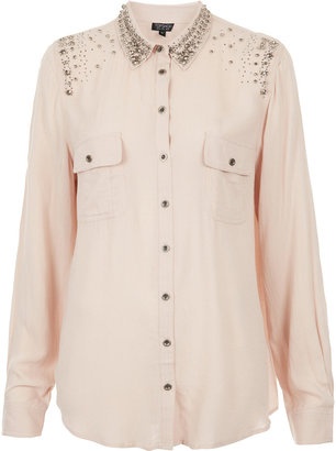 Topshop Casual Embellished Shirt