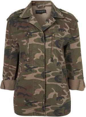 Topshop Petite Camouflage Army Jacket