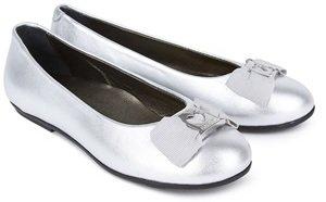 Moschino Silver Leather Ballerinas