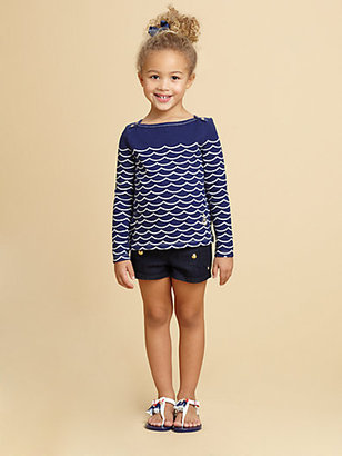 Juicy Couture Toddler's & Little Girl's Denim Sailor Shorts