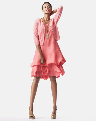 Eileen Fisher Handkerchief Long Cinchable Linen Dress