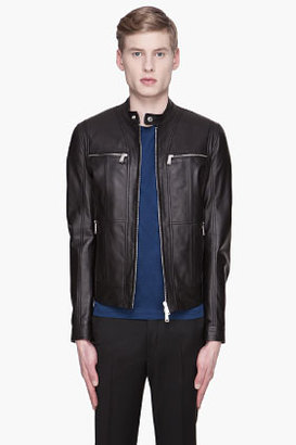 DSquared DSQUARED2 Black Dan Leather Biker jacket