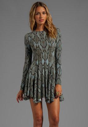 Torn By Ronny Kobo Maria Snake Print Dress