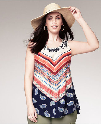 Style&Co. Plus Size Top, Sleeveless Printed