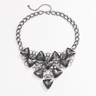 JLO by Jennifer Lopez simulated crystal bib necklace