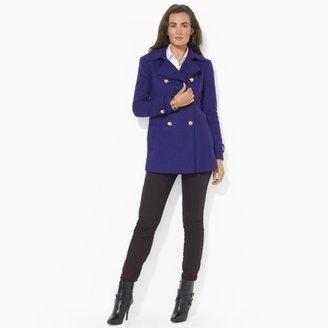 Ralph Lauren Wool-Blend Military Pea Coat