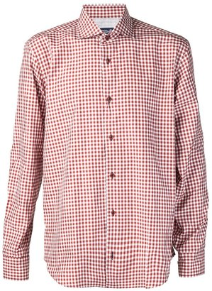 Lawrence Covell checkered button down