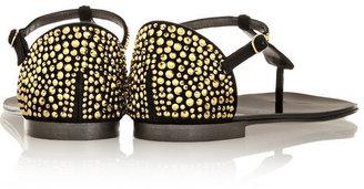 Giuseppe Zanotti Nuvorock crystal-embellished suede sandals
