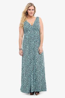 Retro Chic Mint Cheetah Maxi Dress
