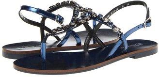 Salvatore Ferragamo My Tresoure (Oro Patent/Crystal) - Footwear