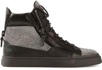 Giuseppe Zanotti Design zip detail hi-top sneakers