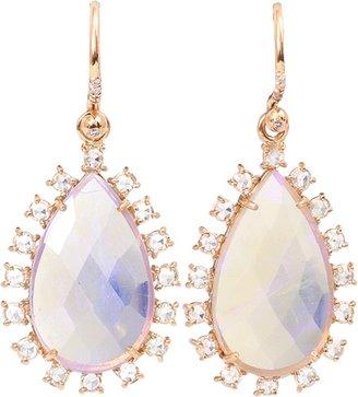Irene Neuwirth JEWELRY Faceted Lightening Ridge Opal Earrings