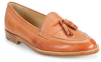 Manolo Blahnik Aldena Leather Tassel Loafers